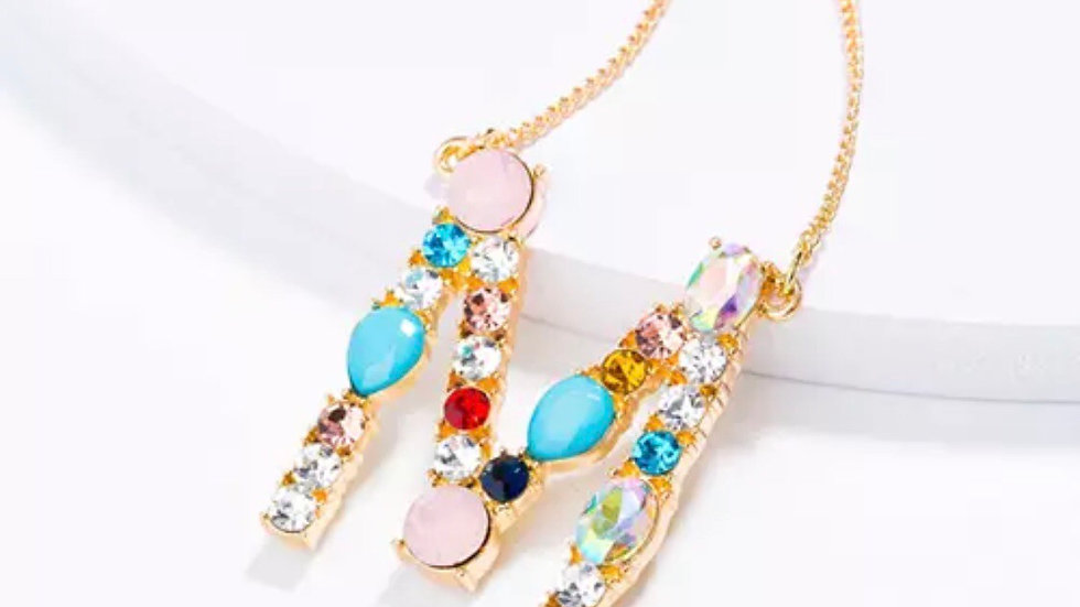 Vibrant Letter Necklace
