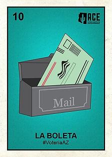 La Boleta voteria card