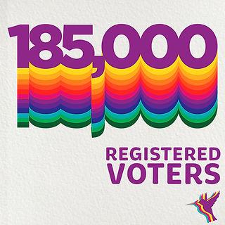 185,000 registered voters betamax design