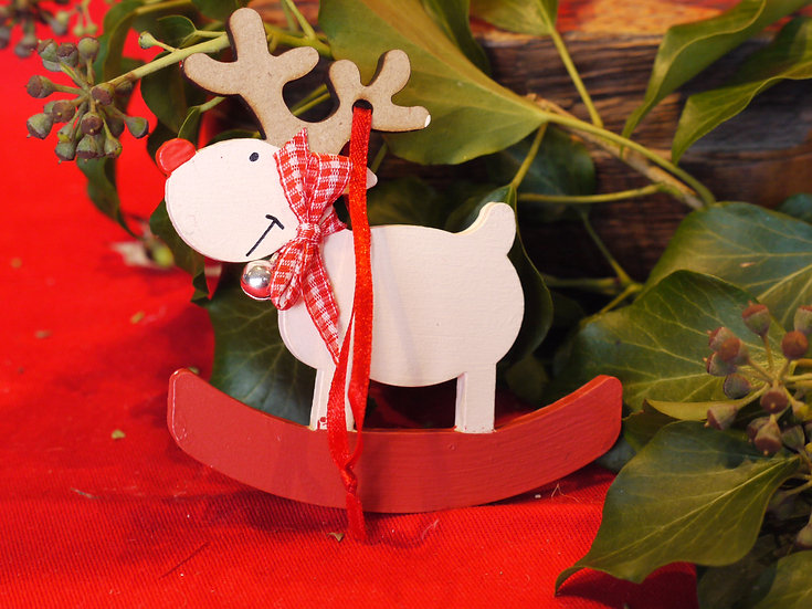 Rocking Reindeer Tree Decoration