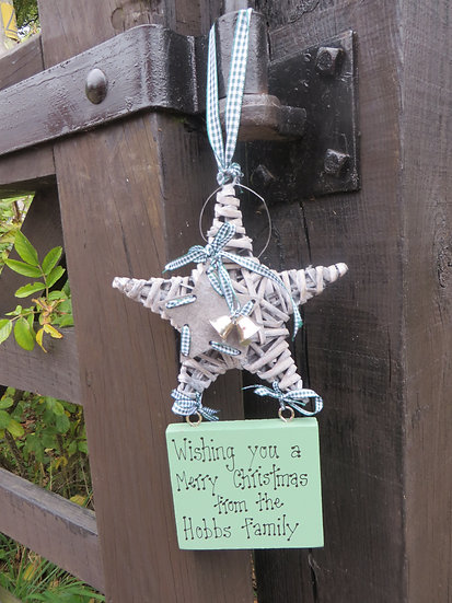 Willow Star with Plaque