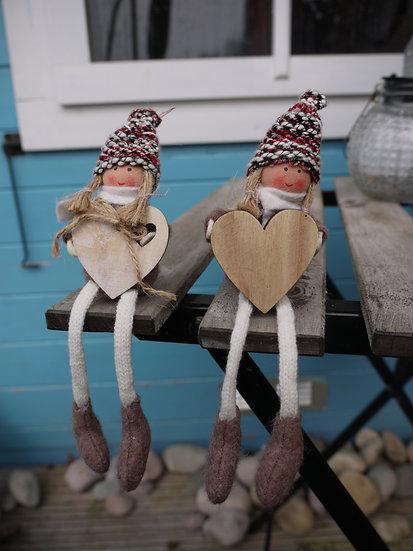 Sitting Girl (Bobble Hat)