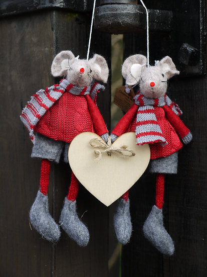Valentines Pair of Mice