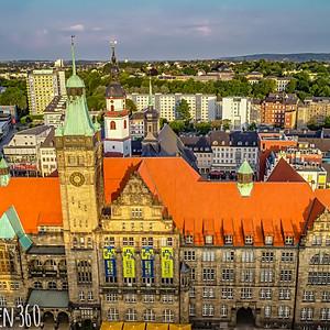 Sonnenaufgang Innenstadt Chemnitz