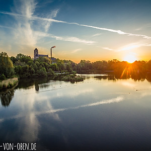 Sonnenaufgang am Schlossteich Chemnitz