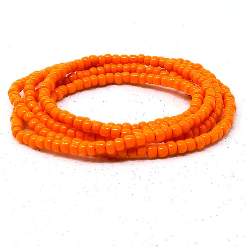 Solid Orange Waist Beads