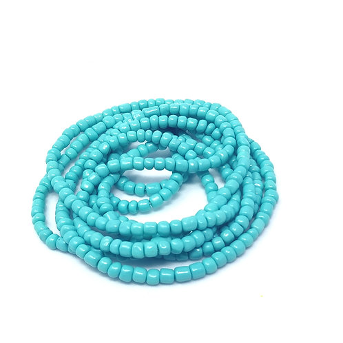 Solid Teal Waist Beads