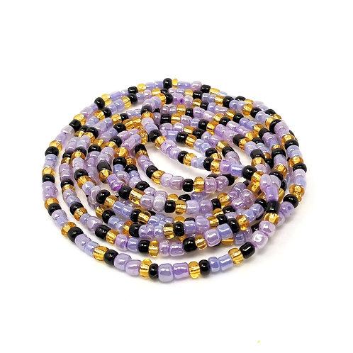 Lavender Storm Waist Beads