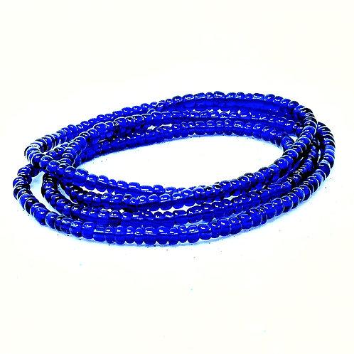 Solid Blue Waist Beads