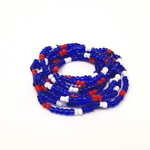 Blue Liberty Waist Beads