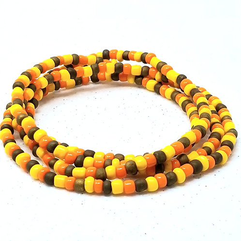 Candy Corn Waist Beads