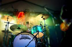 Richie Ramone CHERRY ROCK Green Ludwig drum kit by Stephen Boxshall