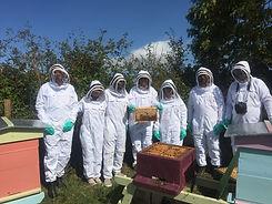 Introductory Beekeeping students.JPG