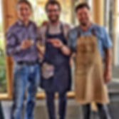 Chef Robin Gill from The dairy Clapham, Chef Luke Matthews from Overends Kitchen and Moi