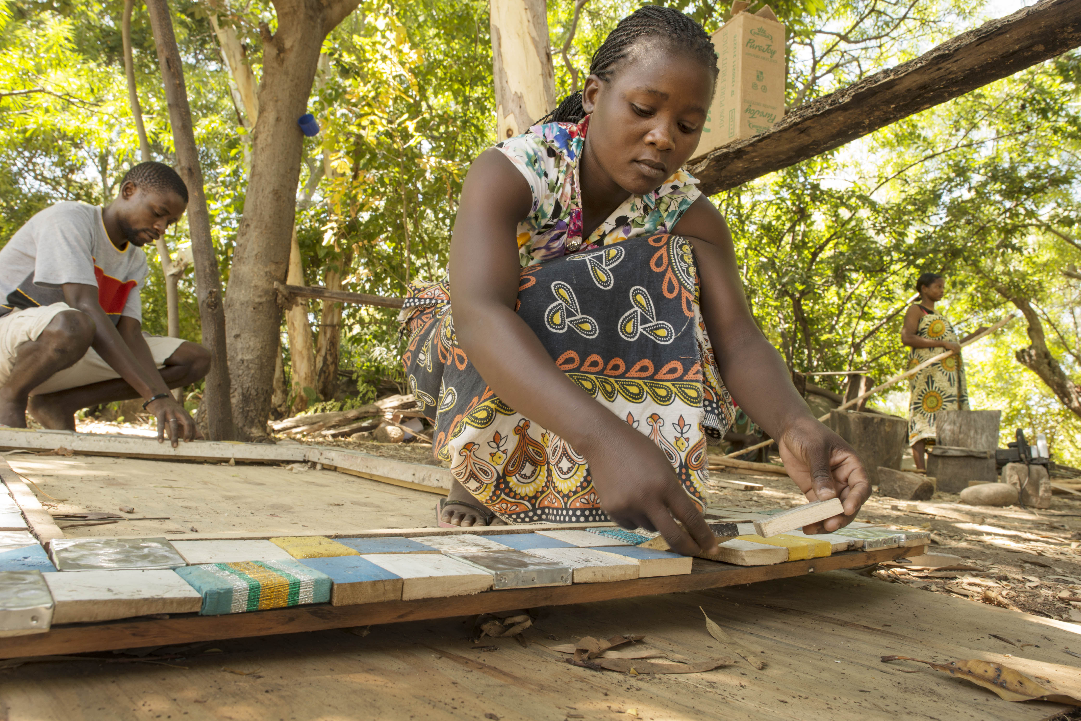 women empowerment carpentry recycled boat wood