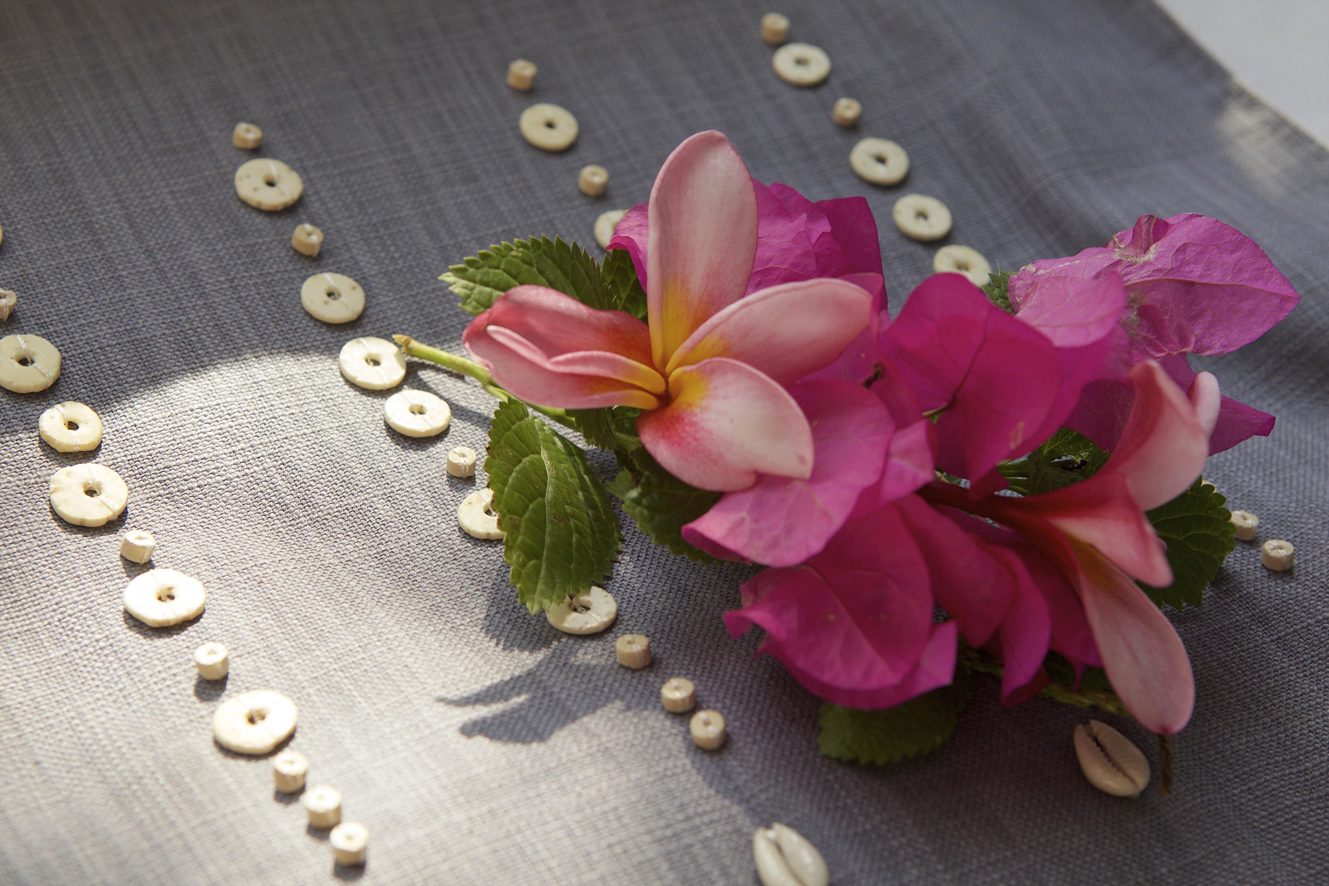 beaded textiles closeup handmade