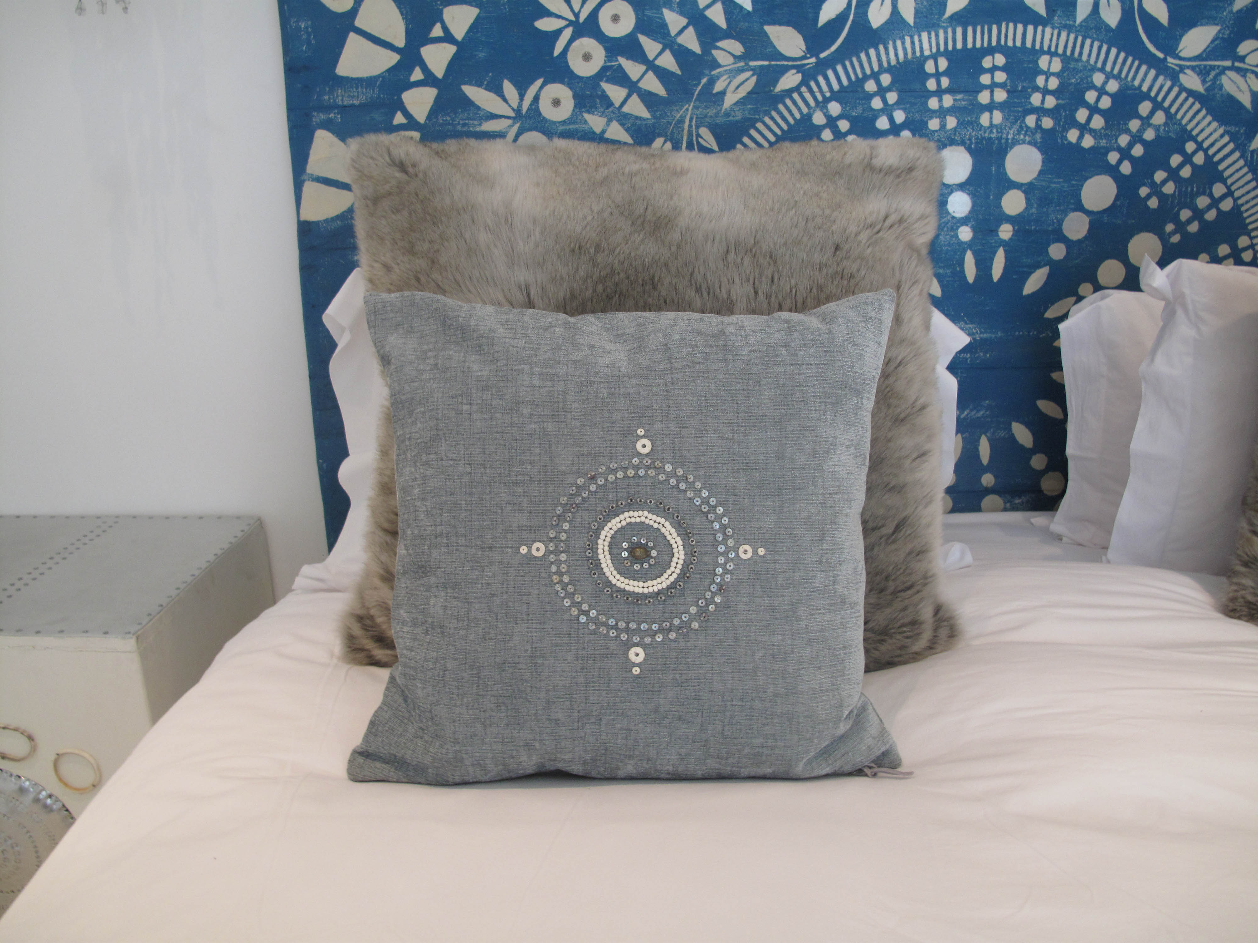 latitude interiors cushion cover handbeaded