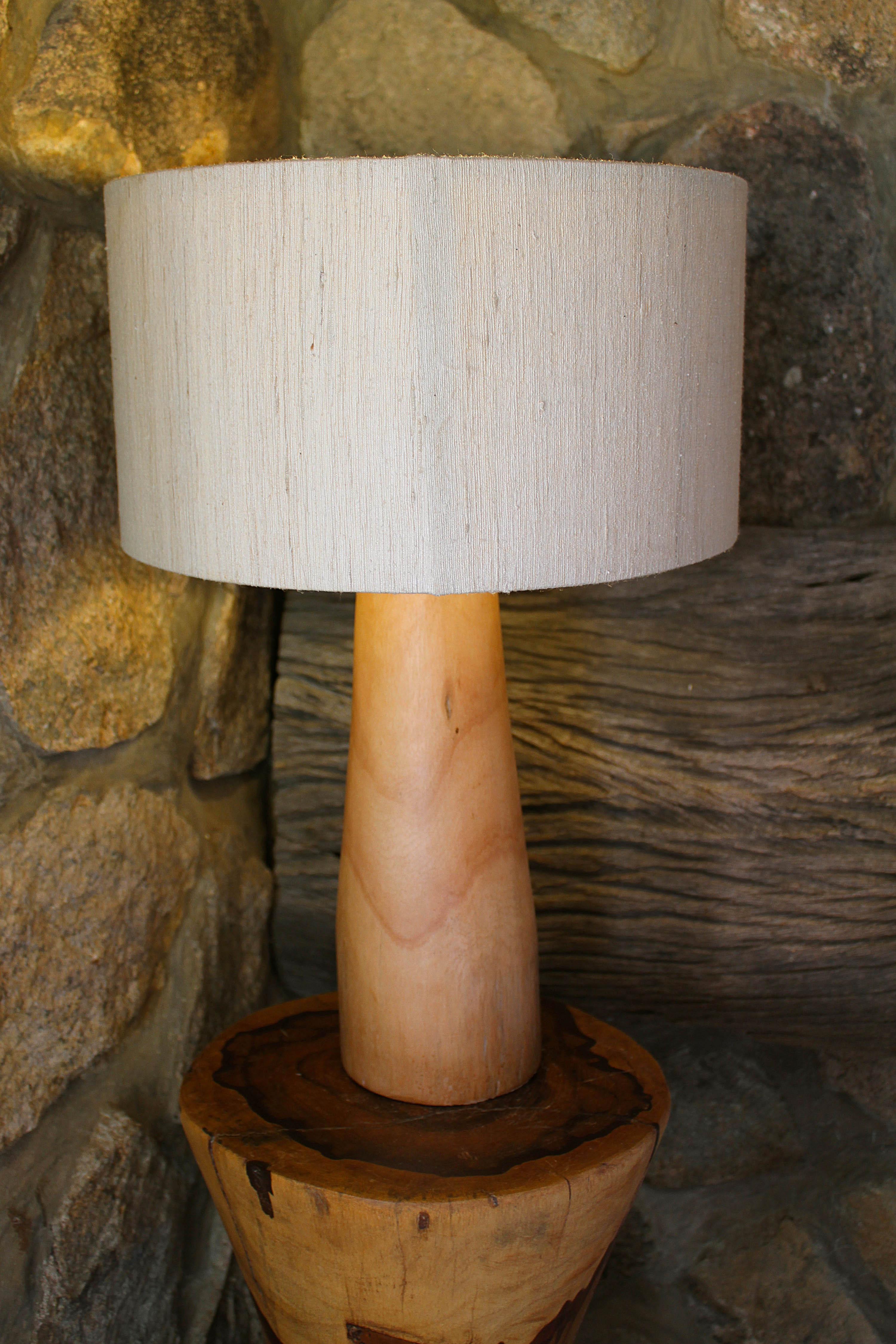 lampbase bluegum wood hand chipped smooth