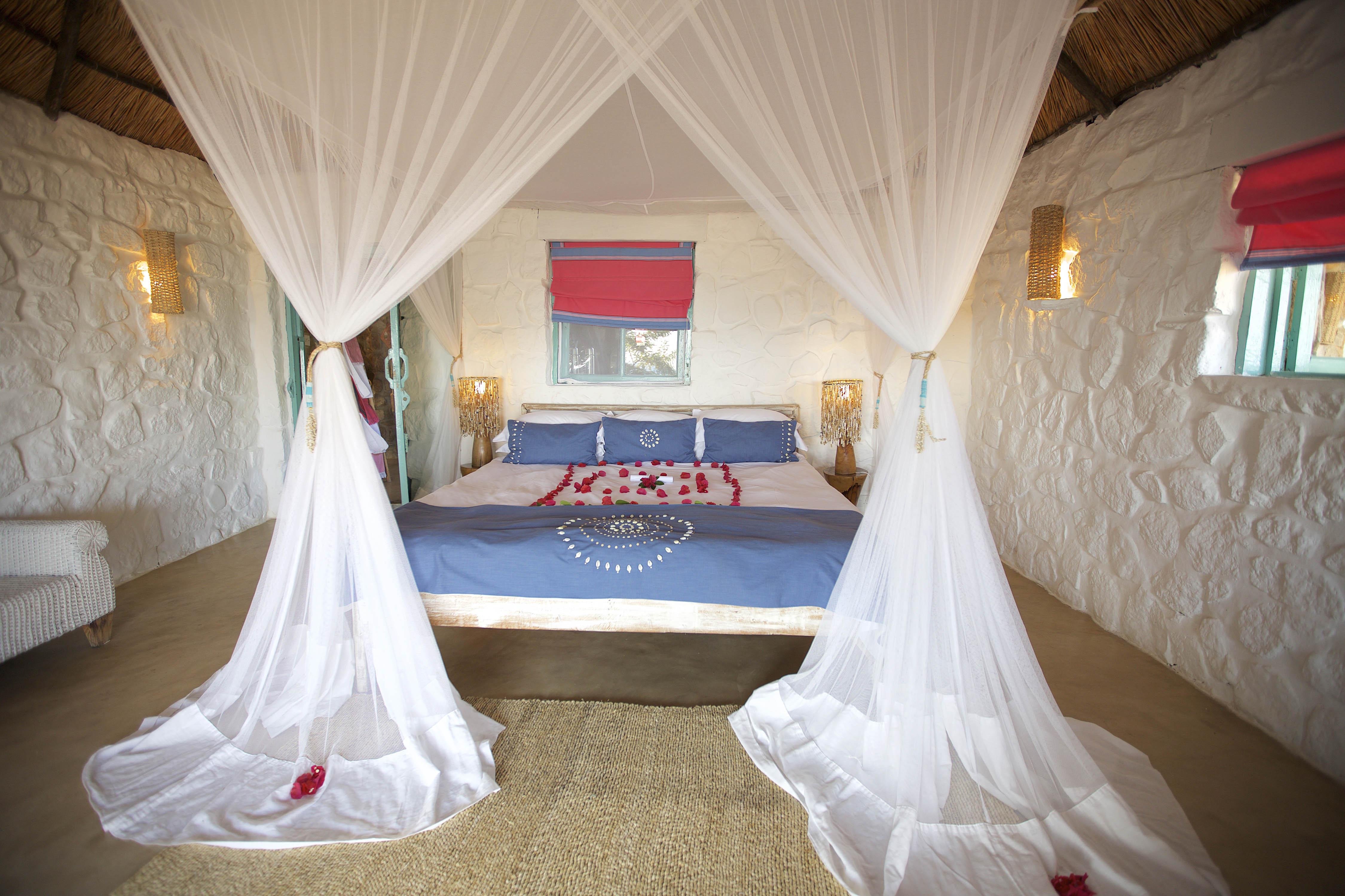 kaya mawa new blue beaded bed throw