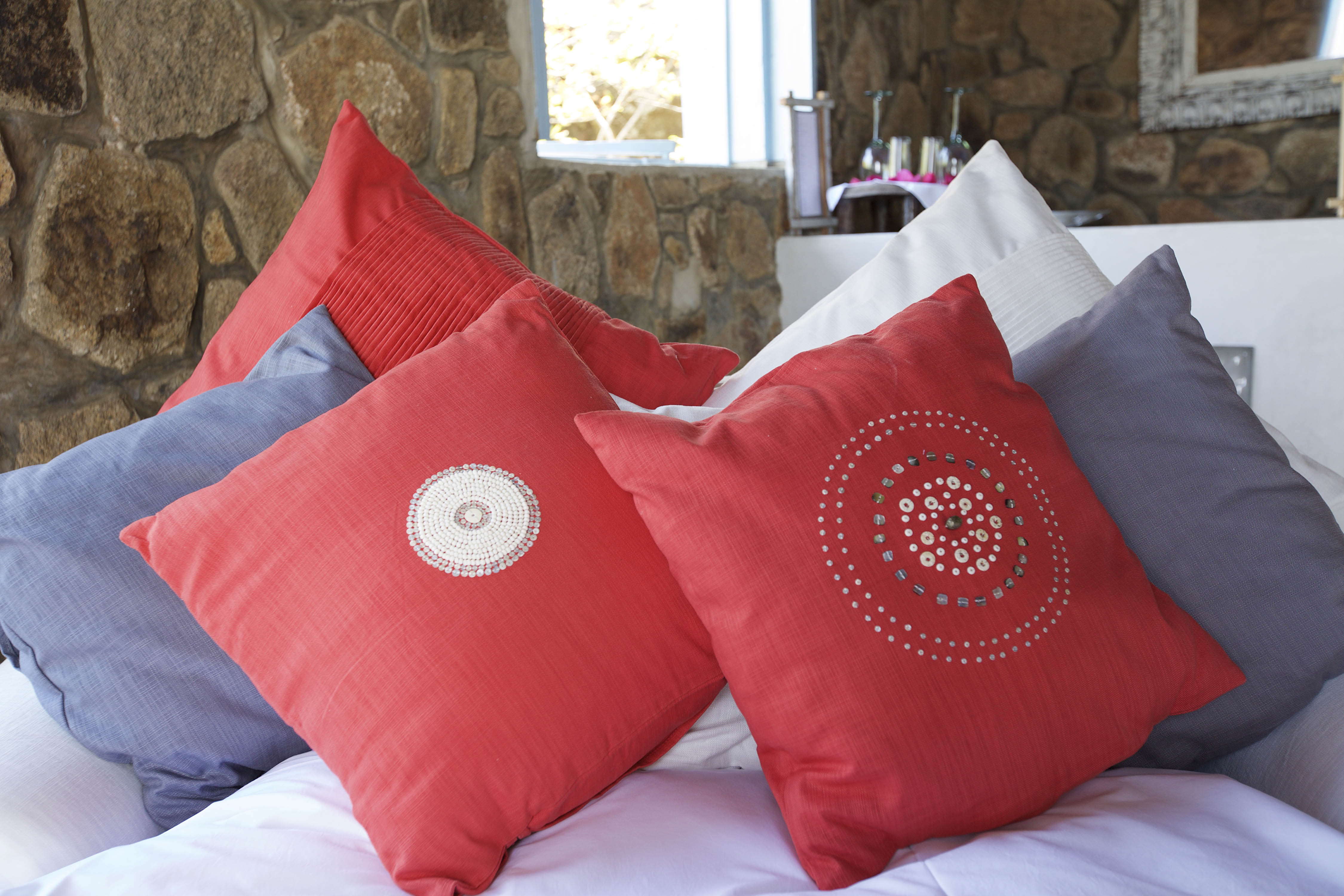 beaded cushions - massai - latitude