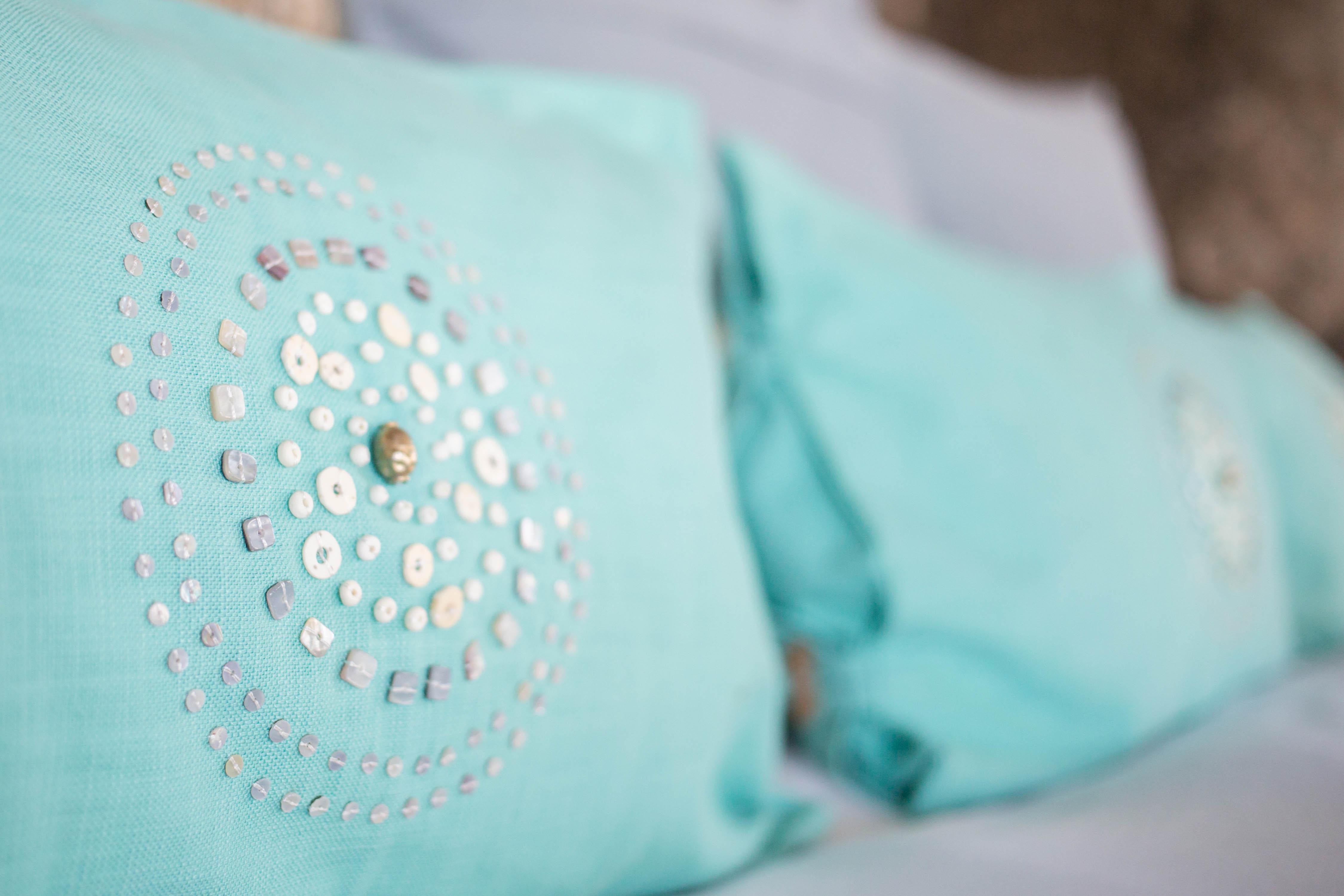 luxery handbeaded cushion trade beads