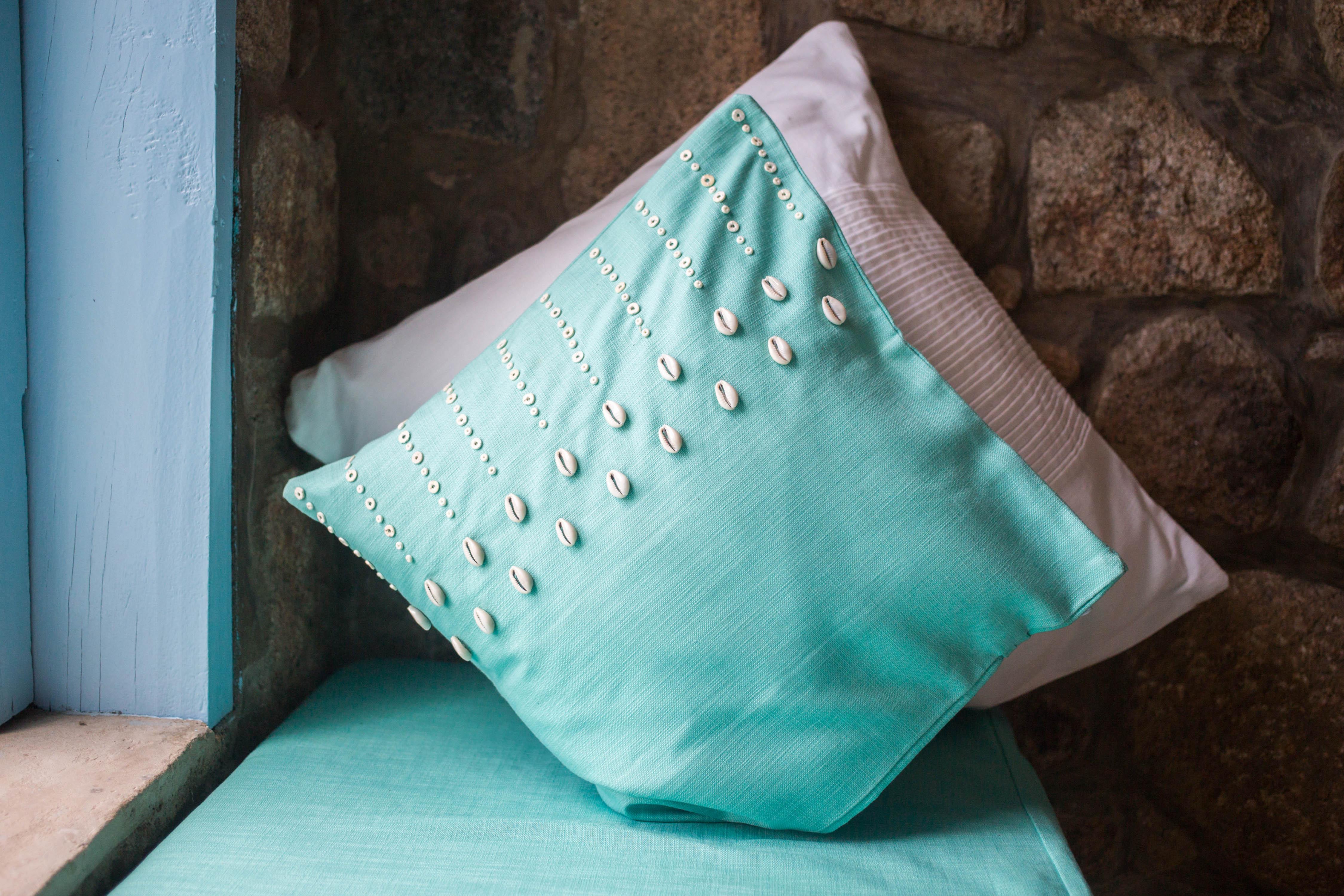 mainja lake malawi likoma beaded cushion