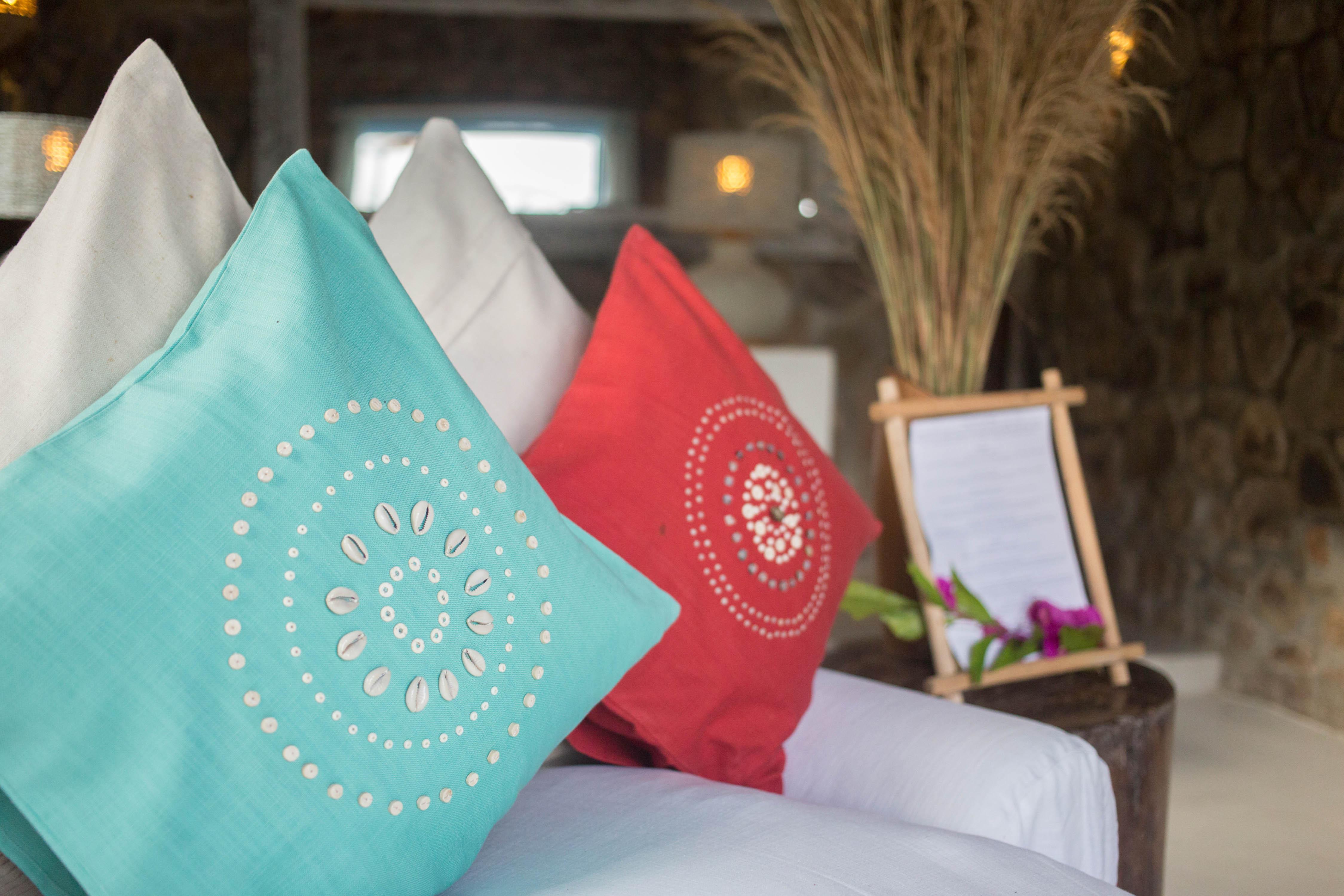 yofo handbeaded cushion kaya mawa likoma