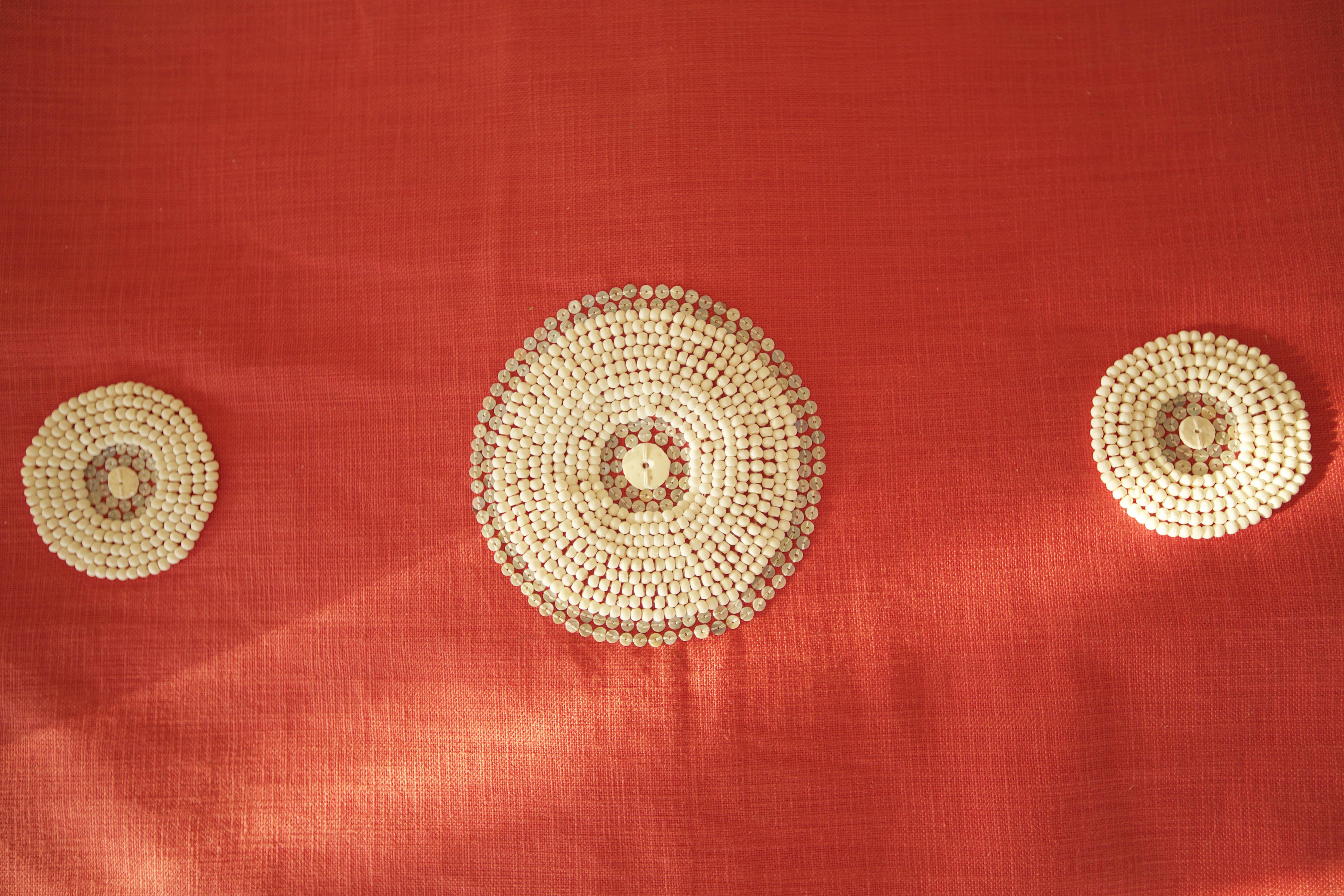 beaded textiles massai red katundu likoma