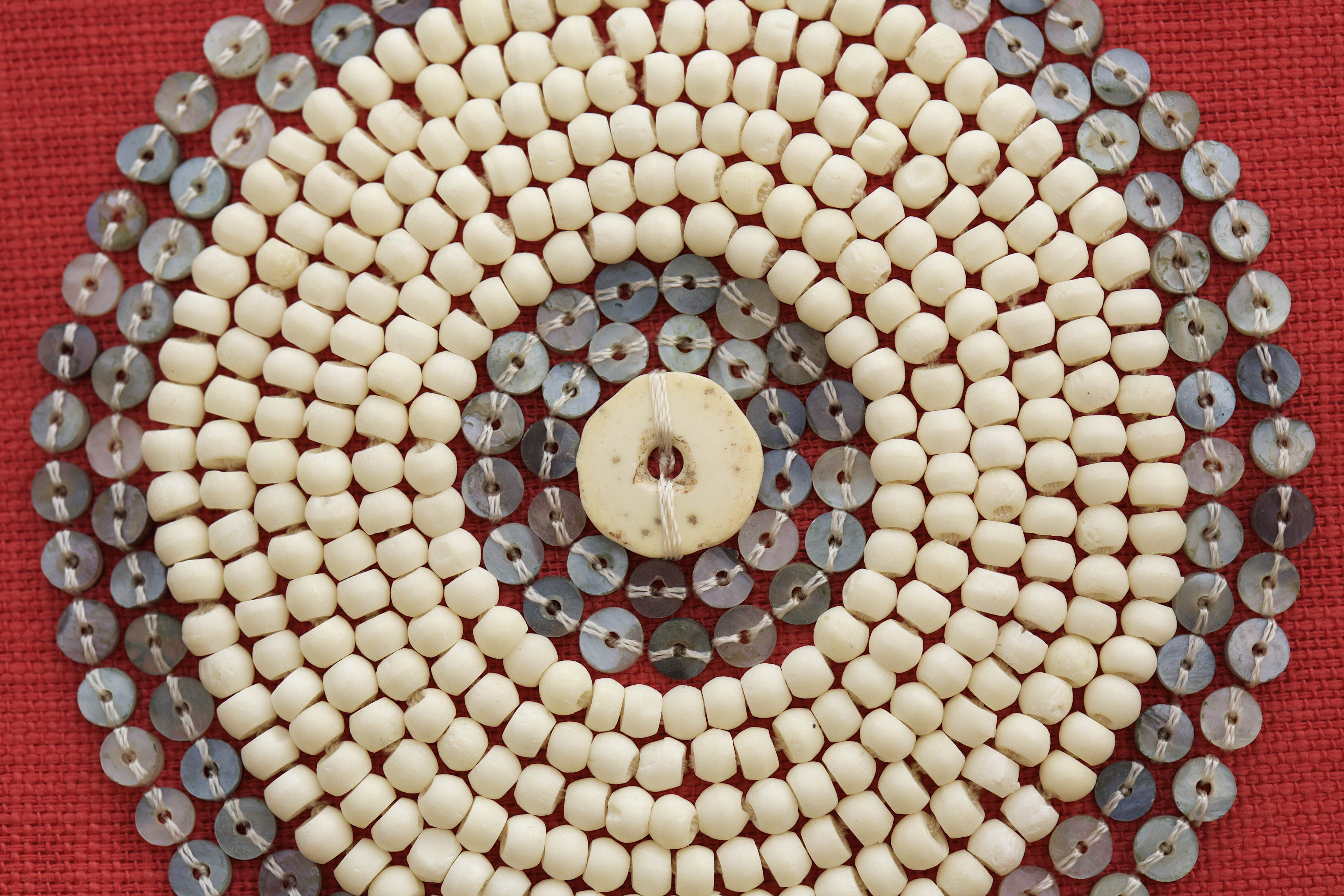 beaded cushion - massai close up