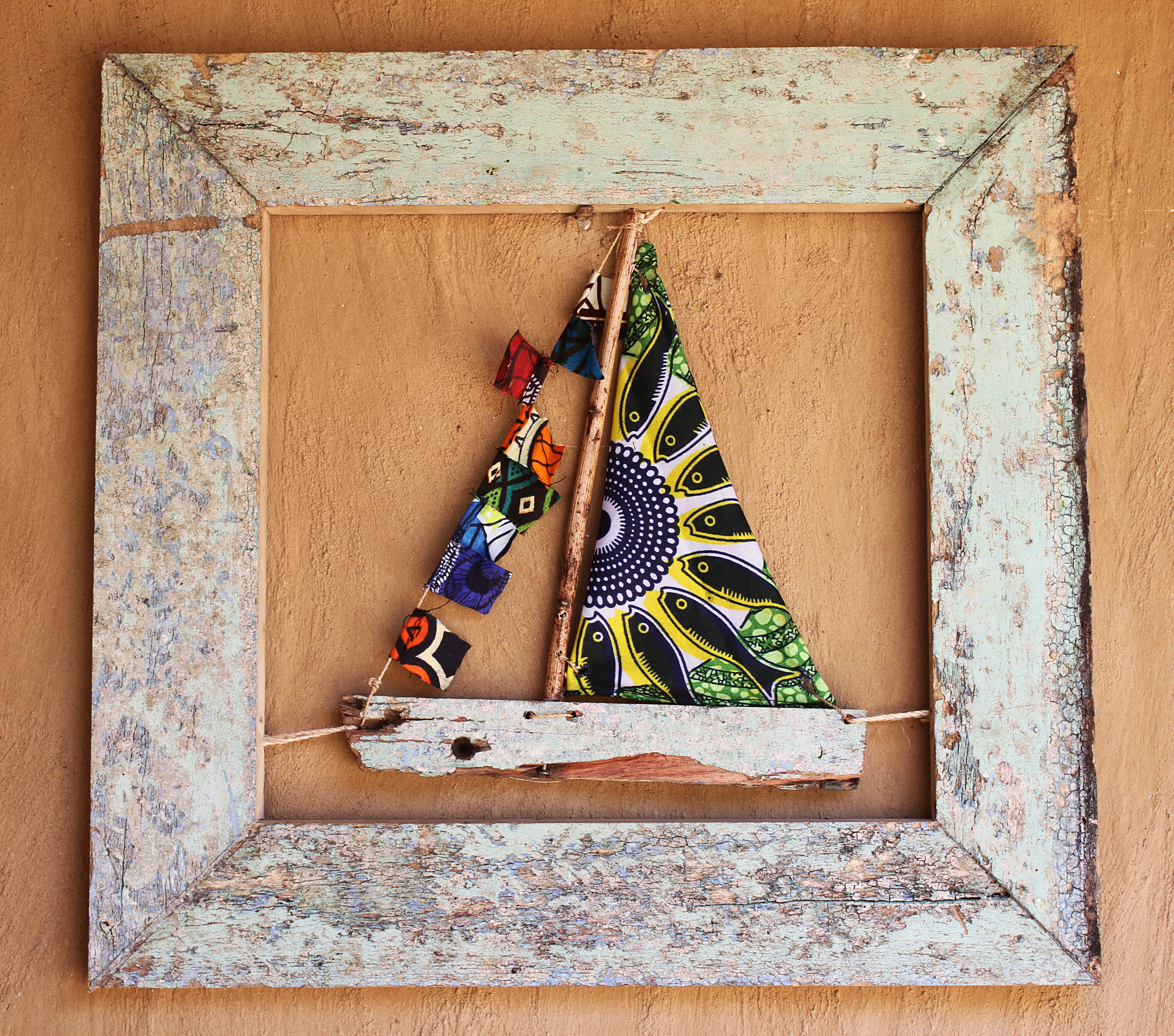 recycled boat wood lake malawi boat in frame