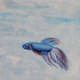 Beta Fish Patty Paper Painting