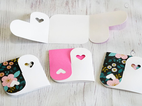 Yin Yang Heart Cards (Free Cut File!)