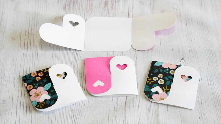 Yin Yang Heart Cards (Free Cut File!)