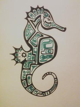 Stylized Seahorse