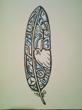 Stylized Eagle Feather