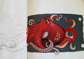 Octopus Paint Sketch