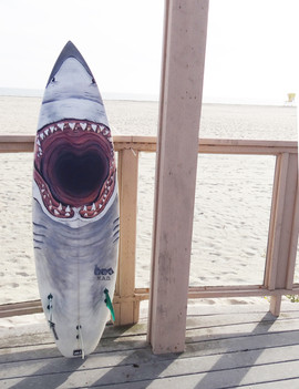 CUSTOM SHARK SURFBOARD