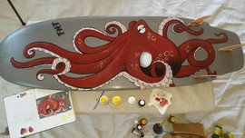Octopus Custom Surfboard