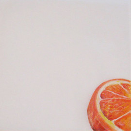 Orange Patty Paper Painting