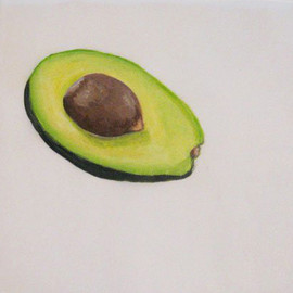 Avocado Patty Paper Painting