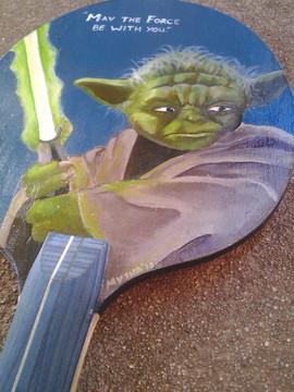 Custom Yoda Ping Pong Paddle