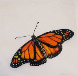 Butterfly Patty Paper Painting