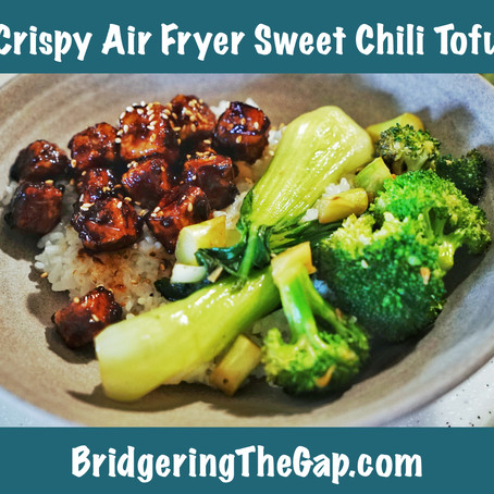 Crispy, Air Fried Sweet Chili Tofu