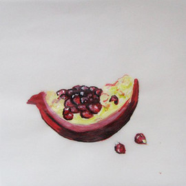 Pomegranate Patty Paper Painting