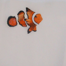 Clown FIsh Patty Paper Painting