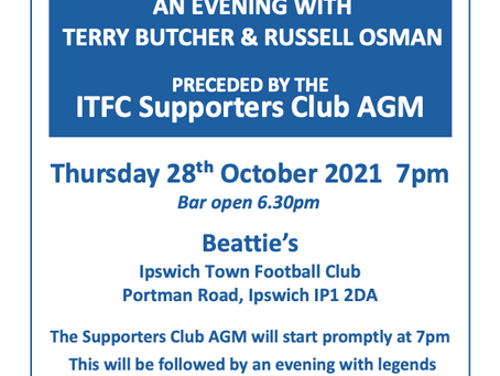 Notice of AGM and Q&A with Terry Butcher & Russell Osman
