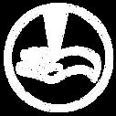 white finished single circle logo transp