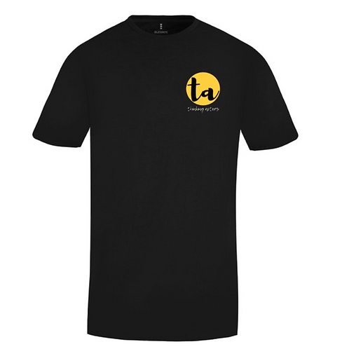 T-shirt - Black with Thinking Actors' logo