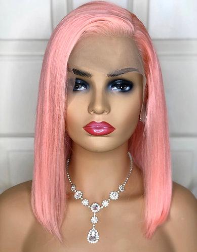 Pink Lace Frontal  Bob