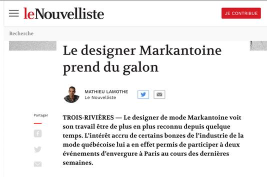Le designer Markantoine prend du galon